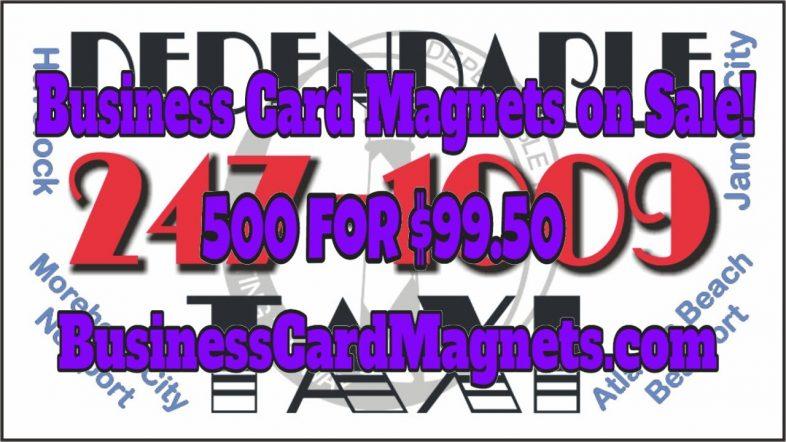 500 business card magnets for $99.50 Delivered!  | Custom Designed Imprint