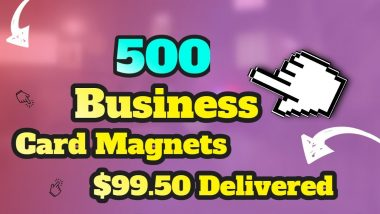 500 Business Card Magnets for only $99.50!