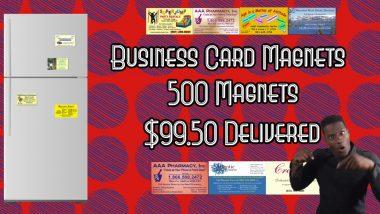 business card magnets on sale | 500 Business Card Magnets for $99.50 delivered!